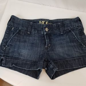 !iT Jean's Dark Blue Denim Shorts Size 27